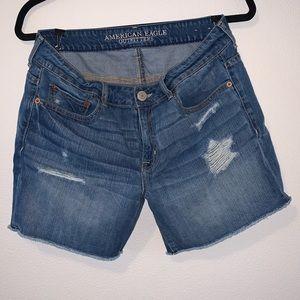 American Eagle Medium Wash Distressed Jean Shorts